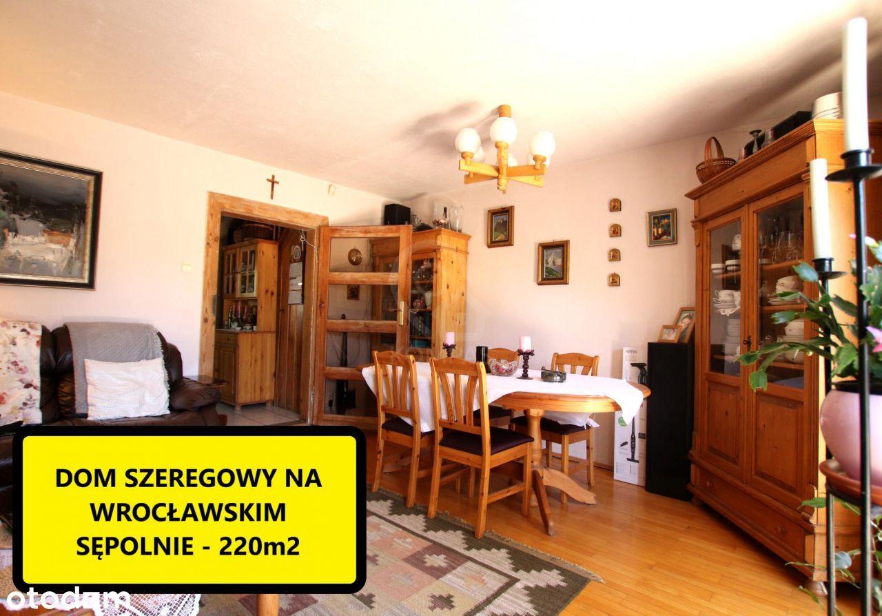 Dom szeregowy na zielonym Sępolnie