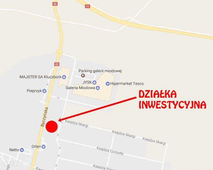 Działka Inwestycyjna Kluczbork - Galeria Miodowa