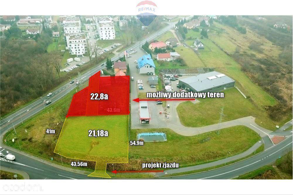Działka usługowa w Skawinie - droga krajowa nr 44