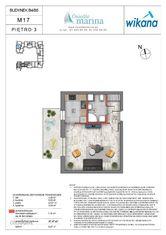 1 pokój + kuchnia, Wrotków, Os. Marina Etap B4-B5