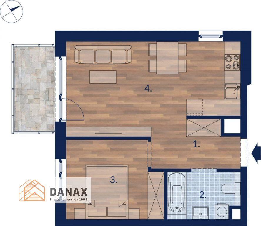 Nowe, 2 pokoje z balkonem, Przewóz
