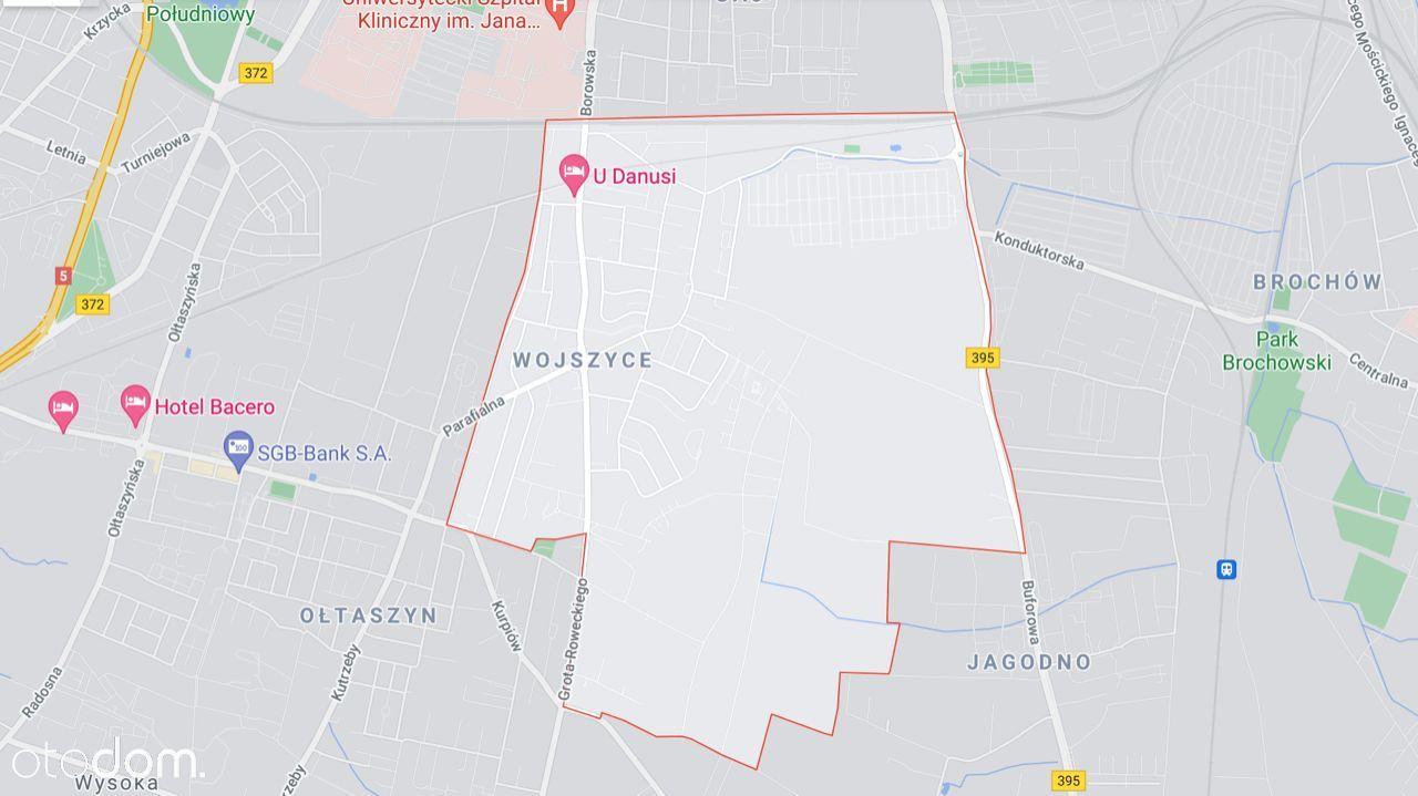 Działka budowlana na Wojszycach 966m