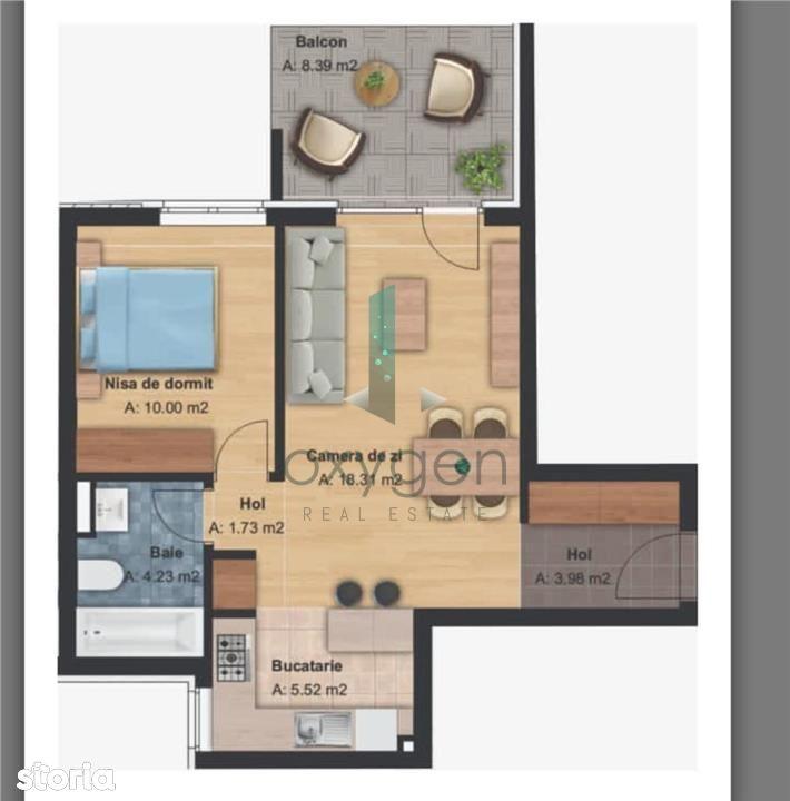Bloc NOU! Apartament cu 2 camere si parcare in Grand HILL!