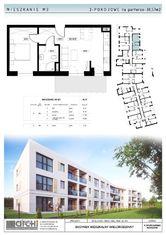 38,57m2-dwupokojowe mieszkanie na parterze z ogród