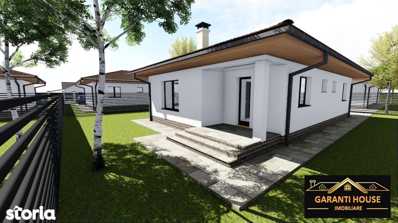 Zona Castel Transilvania, casa noua pe un singur nivel, 91 MP, 75 500€