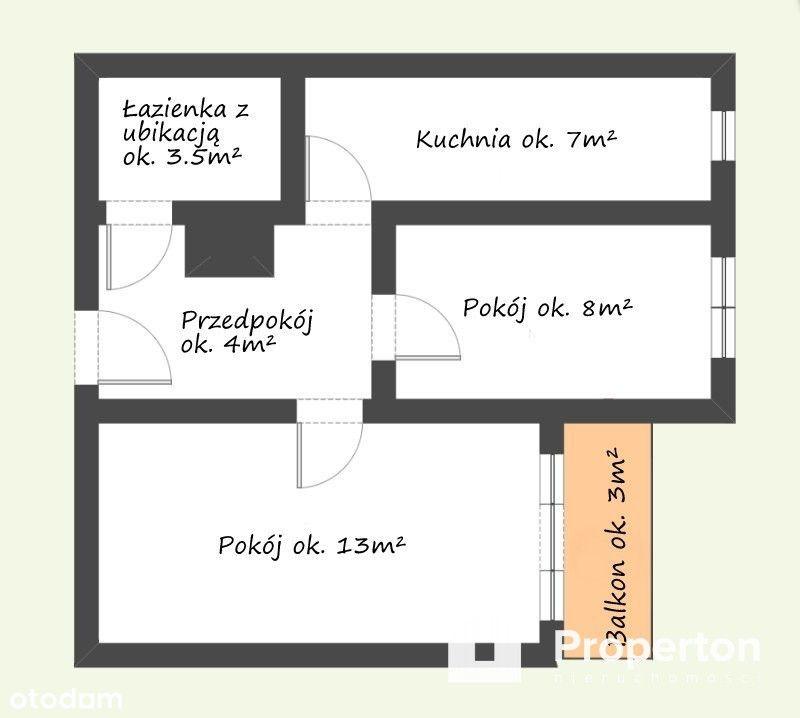 Mieszkanie na start po odświeżeniu dla pary
