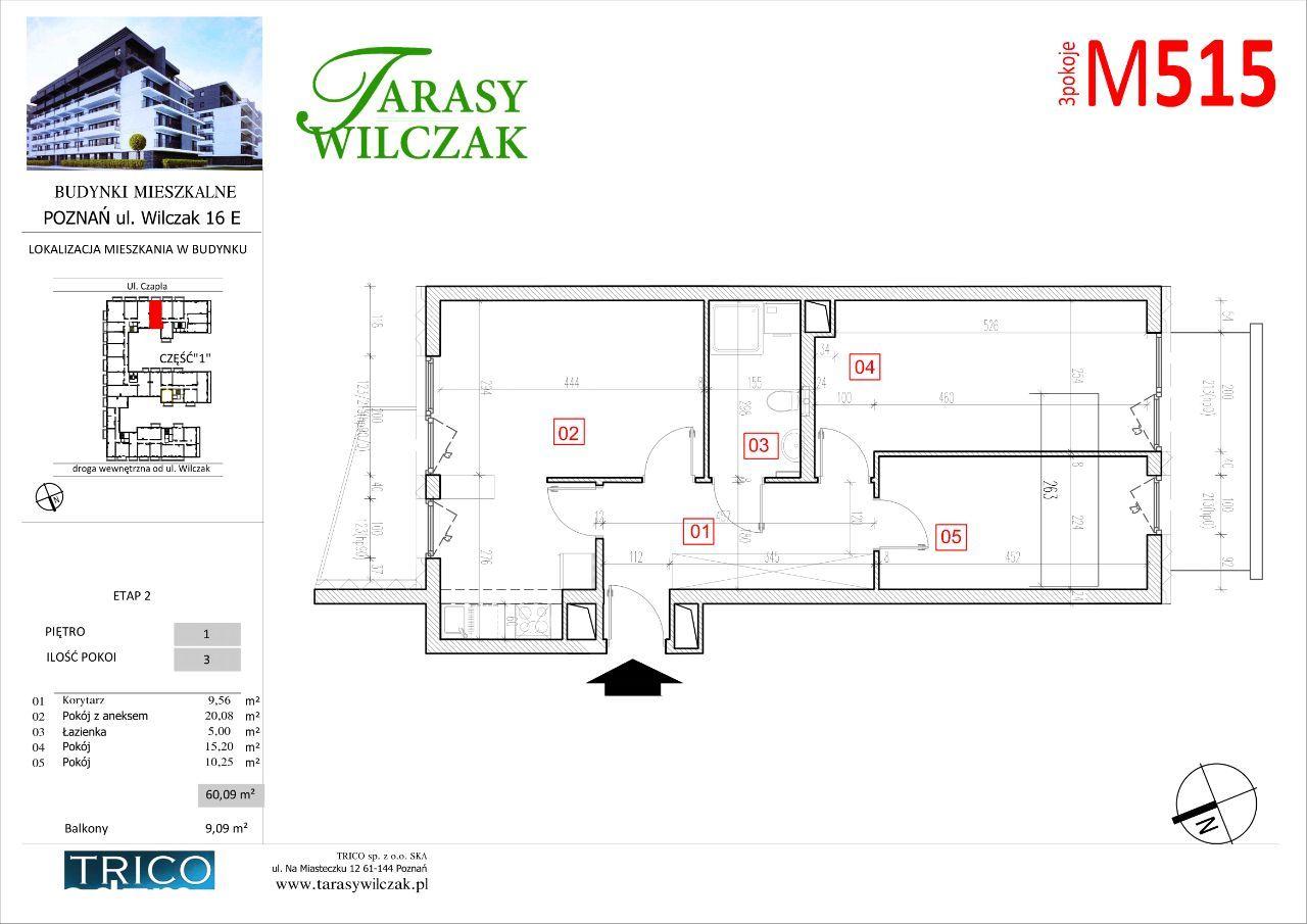 Tarasy Wilczak - 2 etap - mieszkanie 515