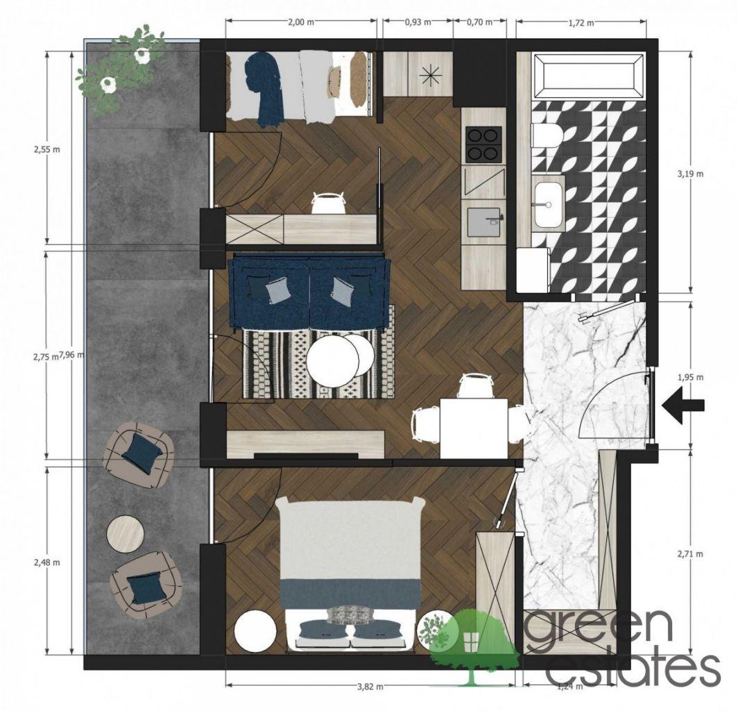 3 pokoje z tarasem 12m2/Bonarka/Korporacje/Gotowe