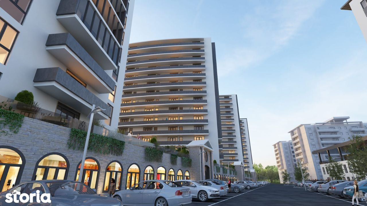 Apartament spațios 3 camere, 2 bai, cu un balcon impresionant de 13mp!
