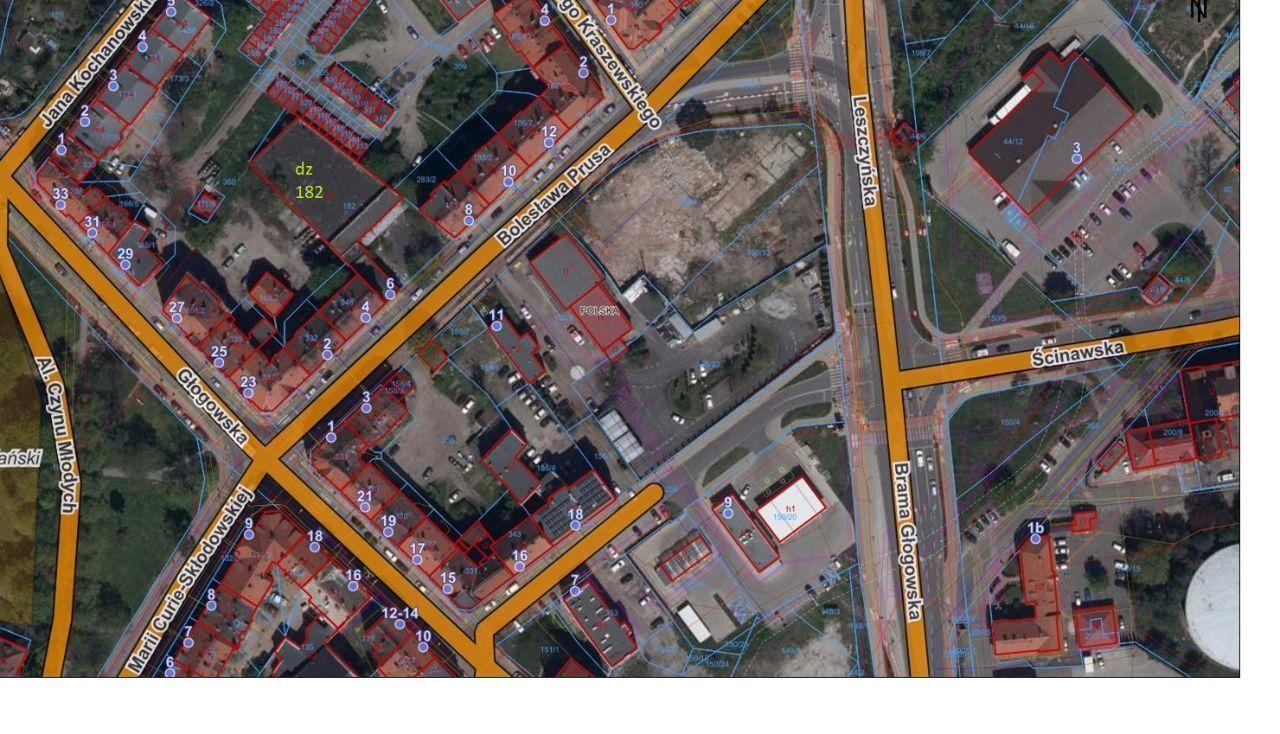 Centrum Miasta dz o pow 1550m2 zabudowana