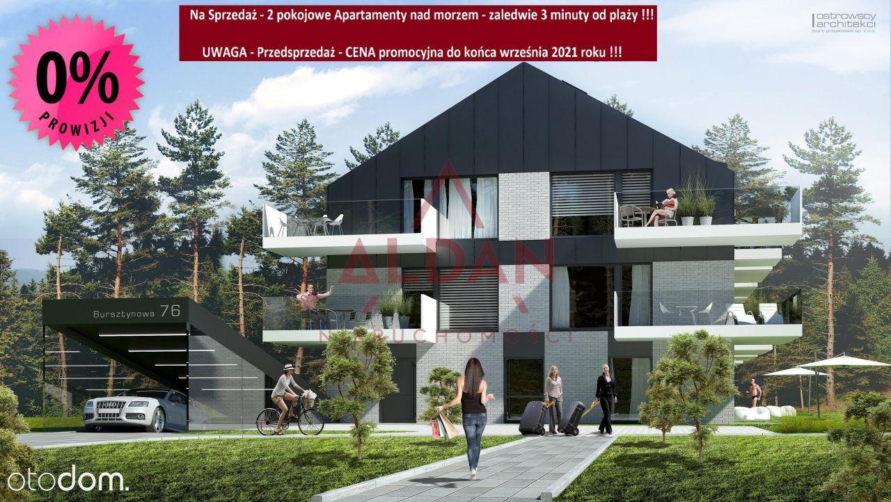 Apartament 2 pok. + 105 m2 ogródek tuż przy plaży!
