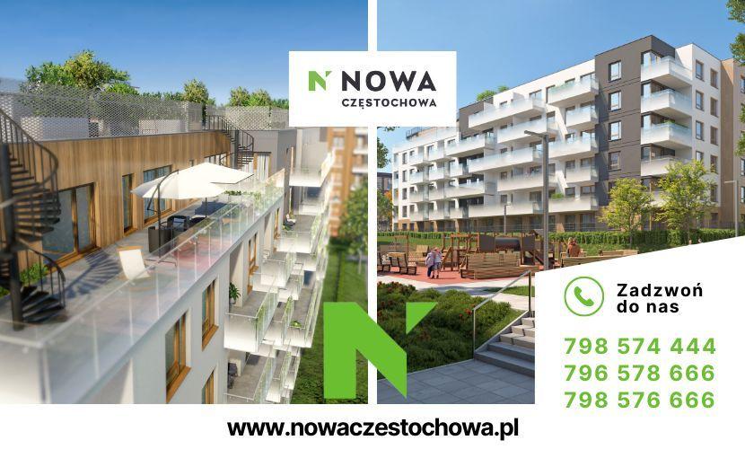 Nowa Częstochowa, PARTER, 73m2, OGRÓDEK