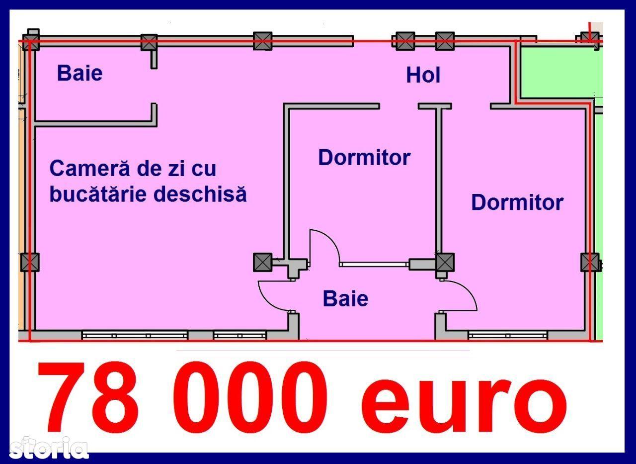 90 mp, Apartament 3 camere etaj1, zona str. Milea, Kristal Residence