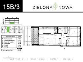 Nowe mieszkanie [15B/3] - osiedle ZIELONA NOWA