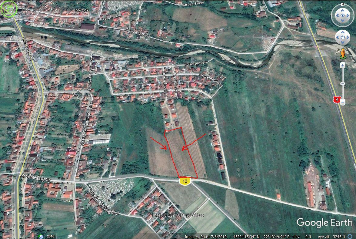 Vand teren intravilan cu PUZ, str. Zlagnei-str Zavoiului,Caransebes.