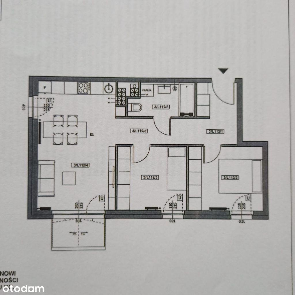 Mieszkanie 3-pokojowe Przylesie Marcelin