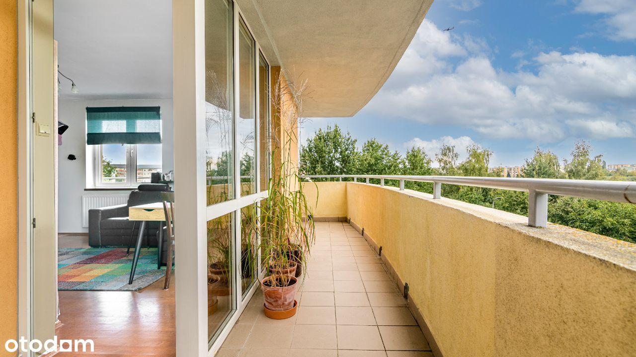 4 pokojowe z dużym balkonem i ładnym widokiem