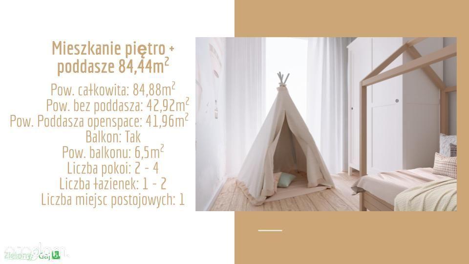 Mieszkanie 84,44m²-Mieszkaj jak Chcesz, ile Chcesz