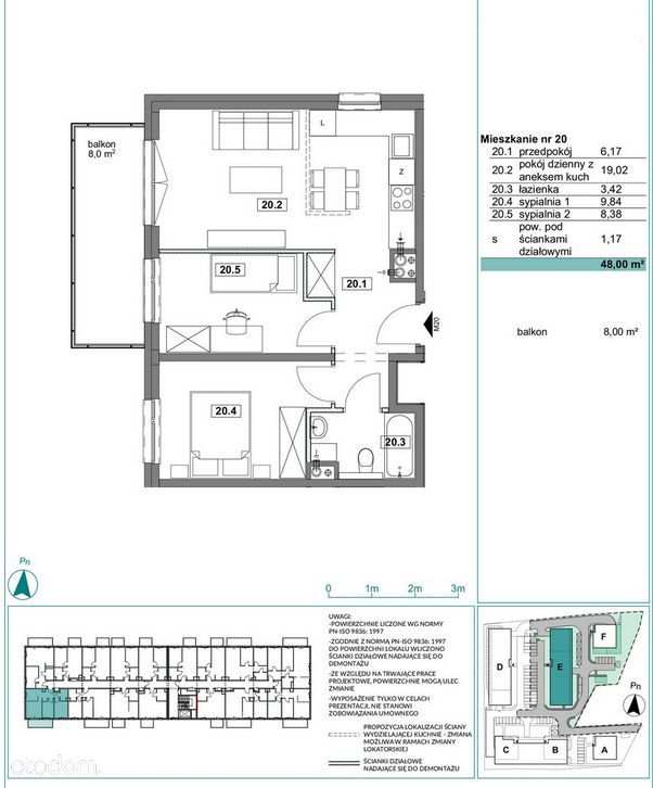 Nowoczesny Apartament 48m2, 3 pokoje, PROMOCJA!
