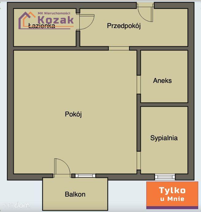 2 pokojowe mieszkanie, Wybickiego okolice