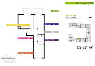 3 pokojowe mieszkanie B.7.2.01