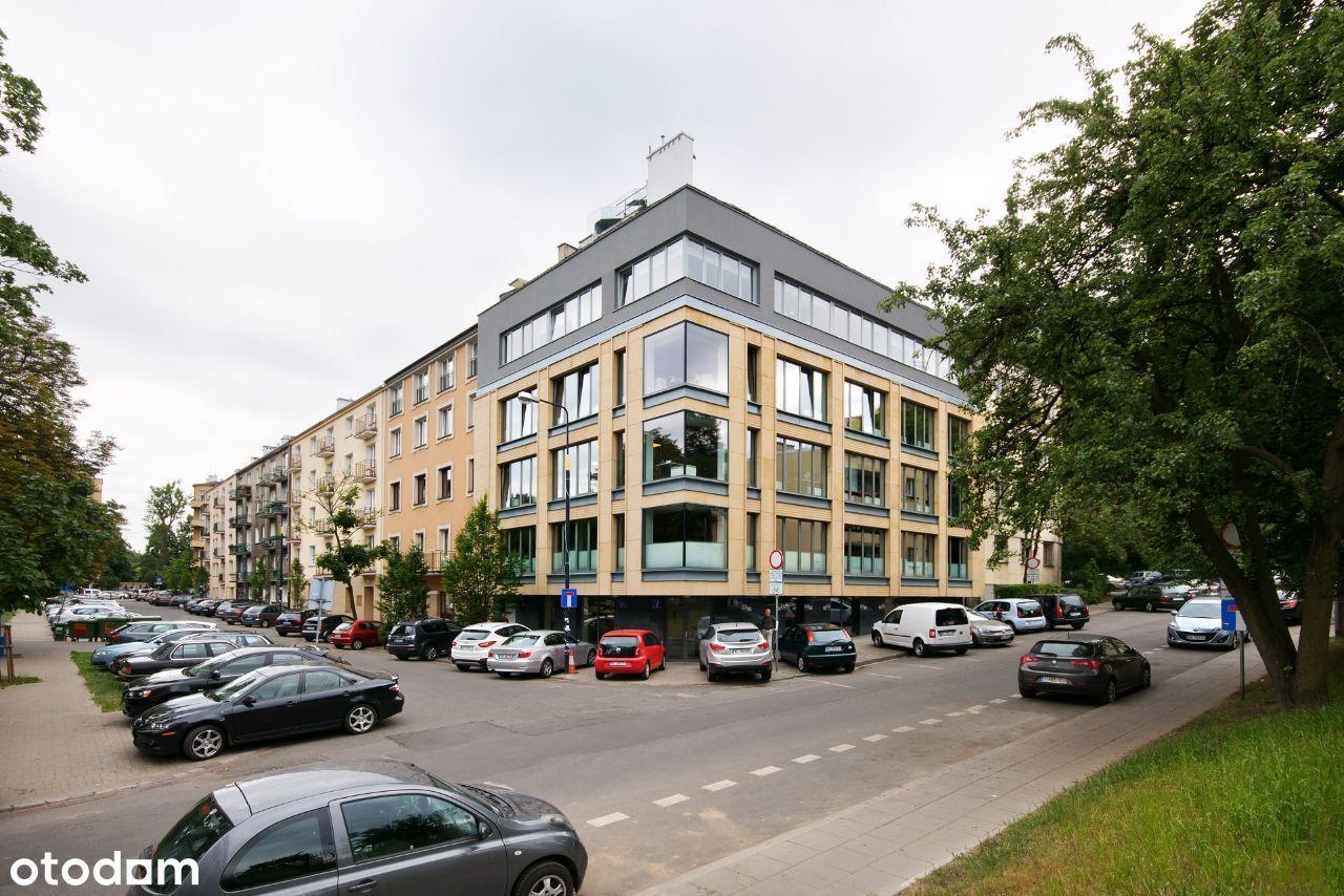 Biuro Powiśle, metro parking, zieleń, piękny widok