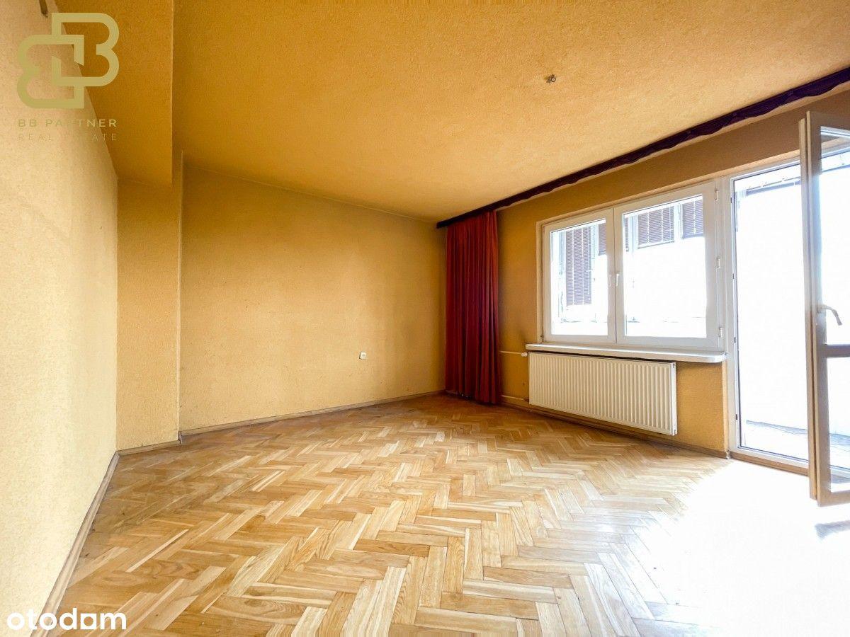 1pok. Mieszkanie do remontu | Loggia Winda Tramwaj