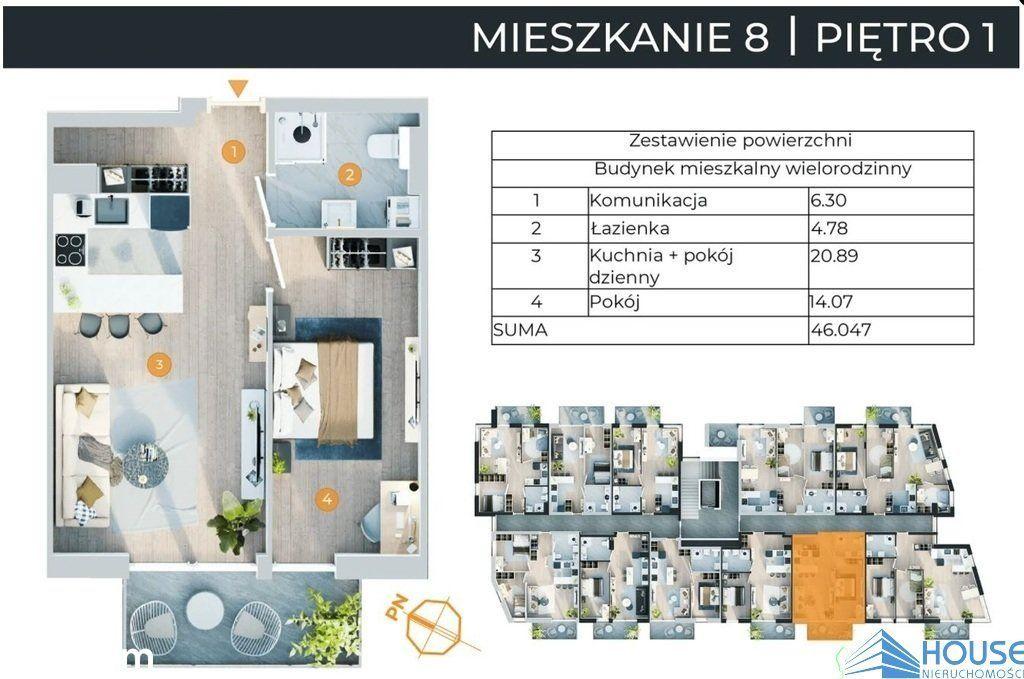 Mieszkanie, 46,05 m², Nowy Sącz