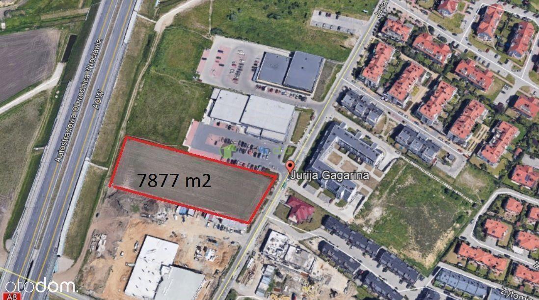 Działka usługowa 7880 m2, Muchobór Wielki, ul. Gag