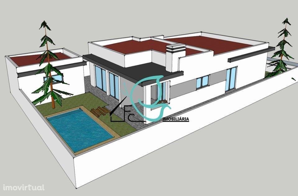 Moradia T4 em construção situada em Azeitão