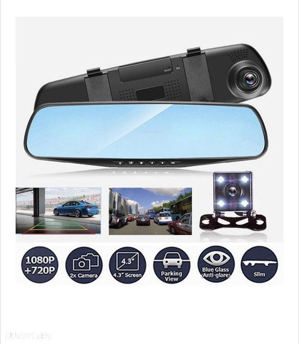Camera Video Auto Dubla Tip Oglinda Full-HD - 6