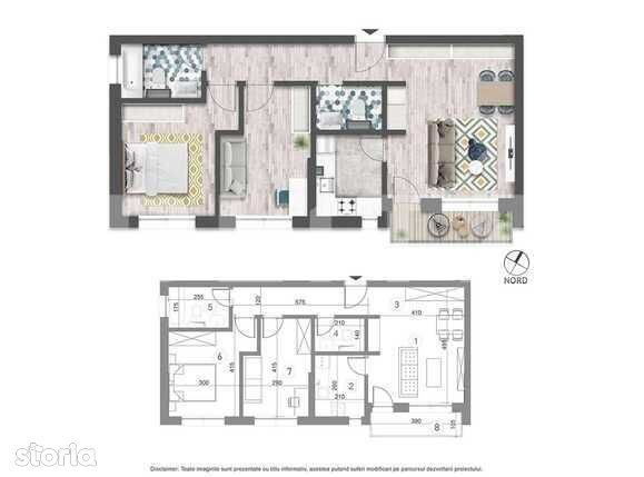 Vanzare 3 camere, 67.9 mp utili, balcon, imobil nou!
