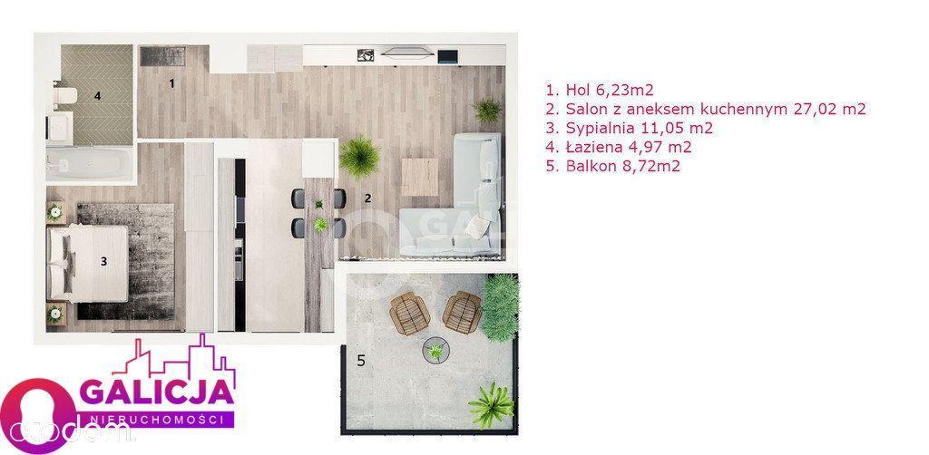 Okazja -Mieszkanie 49,27m2+Balkon 10,84m2- Parter