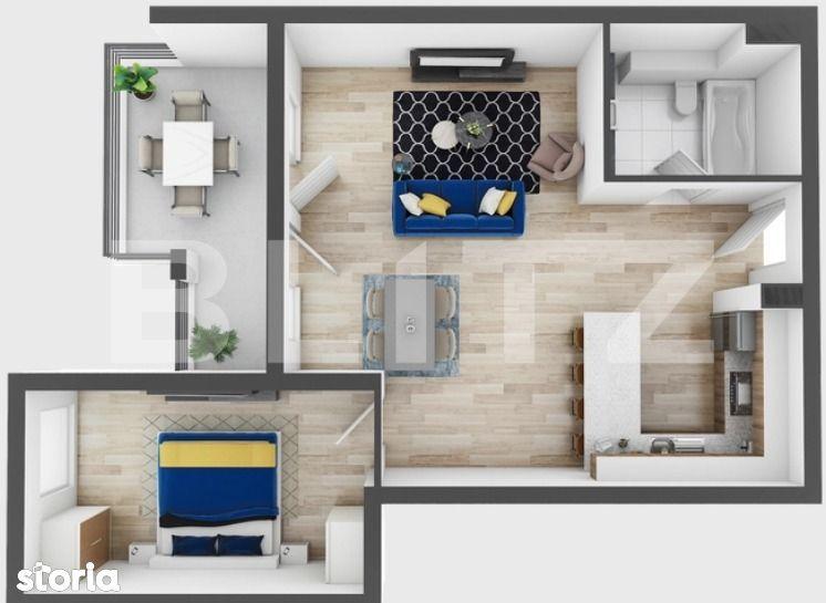 2 camere, 61 mp utili, 11 mp terasa, preturi incepand de la 1330 euro!