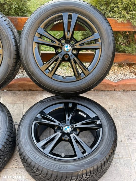 "Jante BMW X1 , X2 , originale , 17"", anvelope Bridgestone 8 mm - 3"