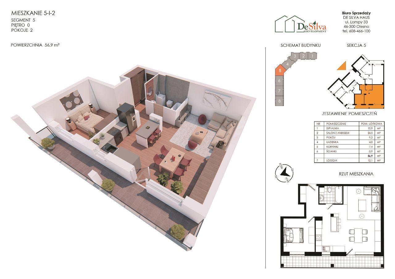 Mieszkanie 3pok. w nowym bloku garaż podziemny 512
