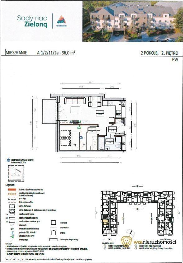 Ostatnie piętro/Sady Nad Zieloną/2 pokoje