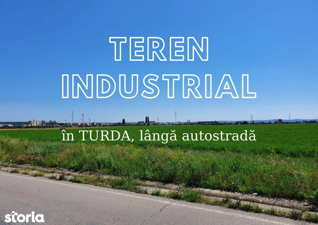 Teren 17.800 mp destinație industrială Turda lângă Autostradă