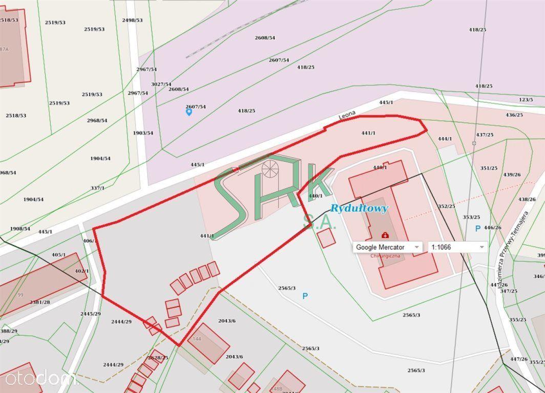 Działka, 4 466 m², Rydułtowy
