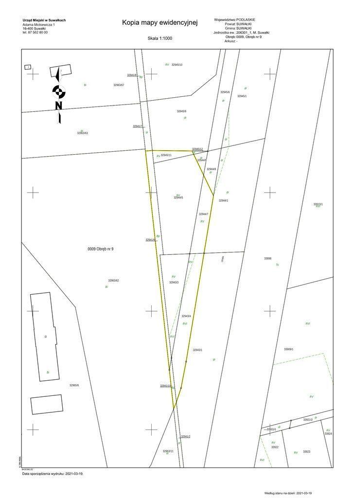Działka, 6 857 m², Suwałki
