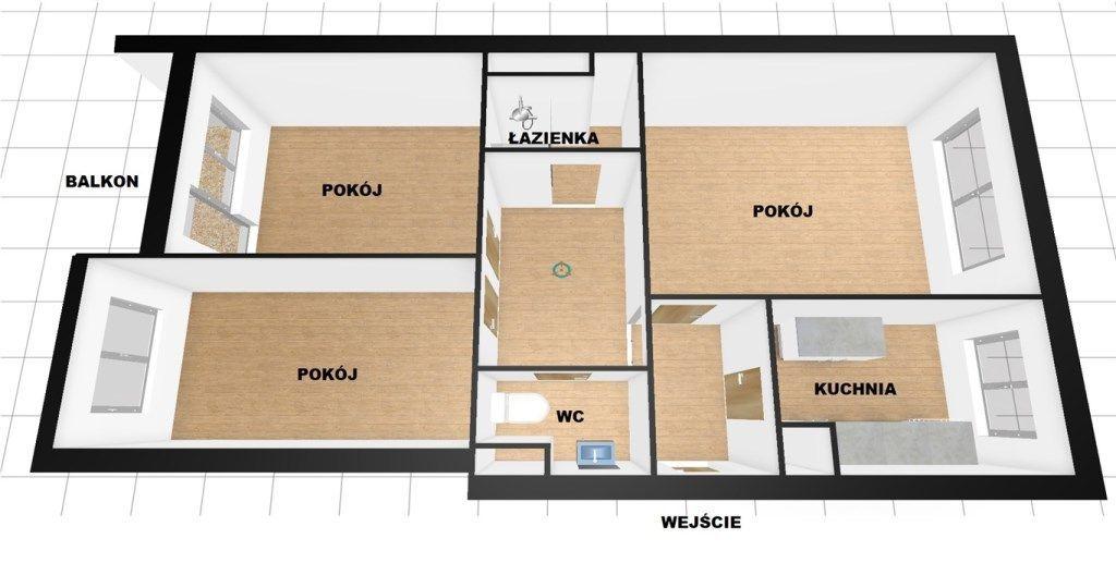 Trzy pokoje ,pierwsze piętro,Częstochowa,Północ
