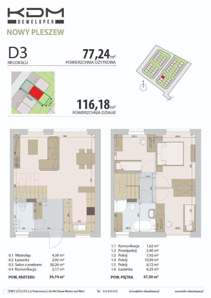 KDM DEWELOPER Nowy Pleszew mieszkanie D3 77,24
