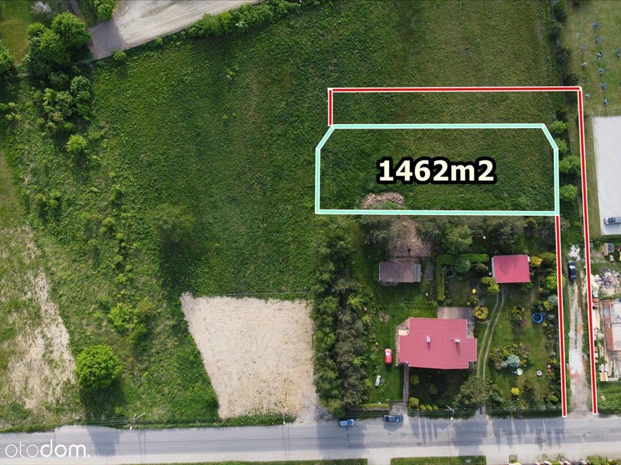 Działka, 1 462 m², Łódź