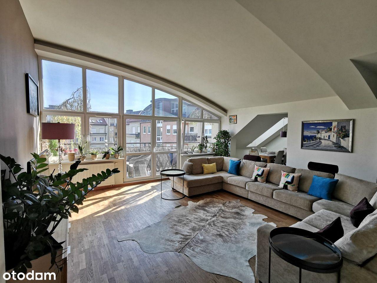 Słoneczny 5 pokojowy dwupoziomowy apartament