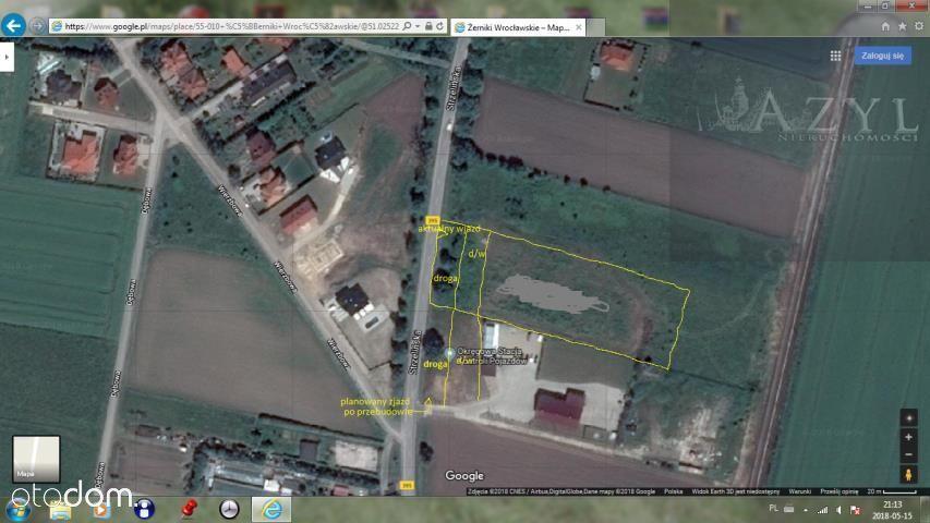 Działka, 5 000 m², Żerniki Wrocławskie