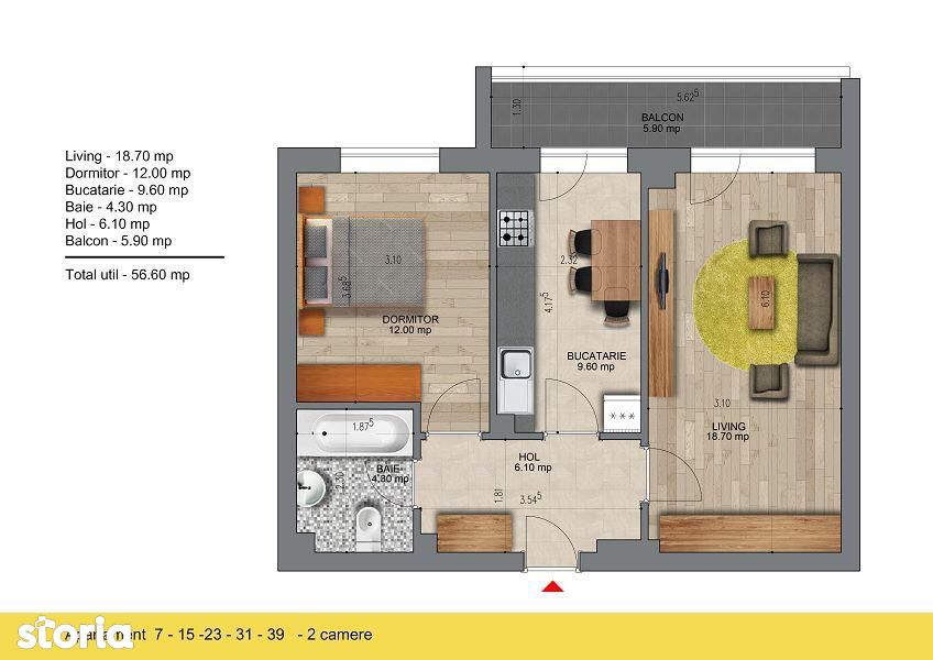 Pasarela Metrou Berceni - Apartament 2 camere - Comision 0%