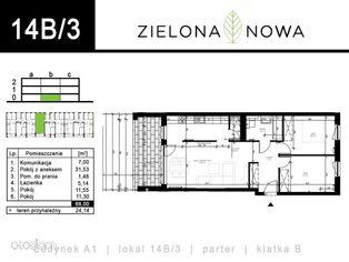 Nowe mieszkanie [14B/3] - osiedle ZIELONA NOWA