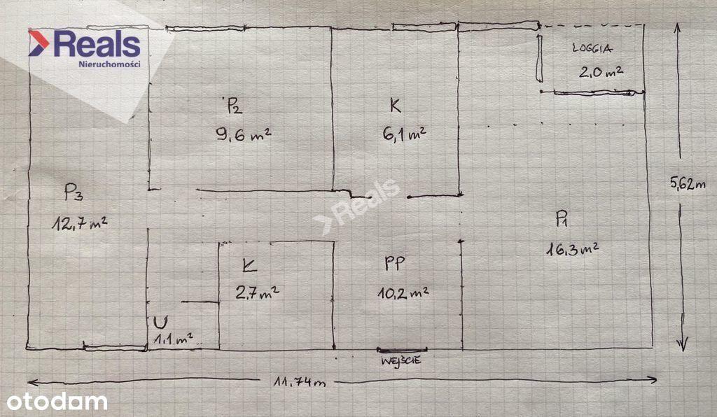 Mieszkanie, 59,52 m², Warszawa