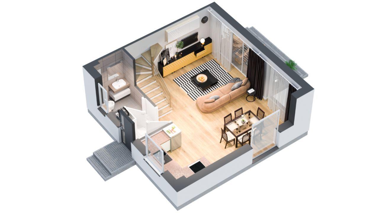 Invest Complex praktyczne mieszkania 75.81m2+ogród