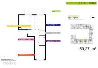 3 pokojowe mieszkanie B.7.1.01